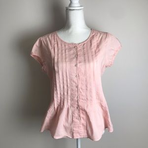 B.u.m. - Pink button down shirt with short sleeves